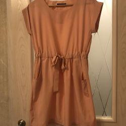 Peach-colored dress Zara