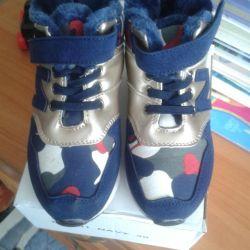Детские зимнии кроссовки