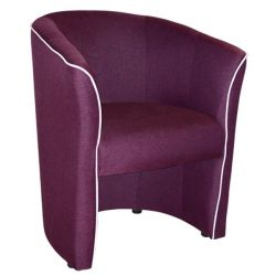 BANNY ARMCHAIR WITH MOB & RELIEY PU WHITE HM30