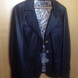 Leather jacket. New