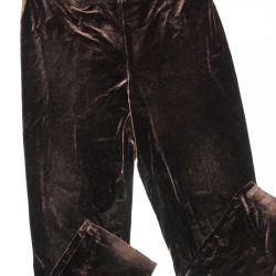Trousers velvet streych, river 54/56