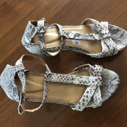Python leather sandals