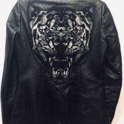 Philipp Plein 🔥Chicken leather jacket, original🇮🇹