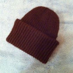 New chocolate angora hat