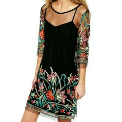 New dress 42-44 with embroidery