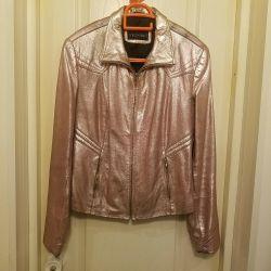 Jacket, leather, size 44-46.