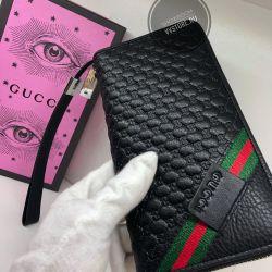 Γνήσια δερμάτινη τσάντα Gucci πορτοφόλι