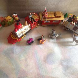 Steam engine and toys