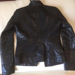 Leather natural female jacket. Sale!