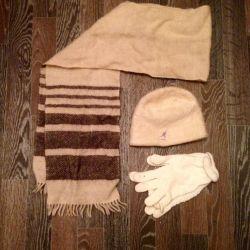 Комплект шапка,шарф,перчатки