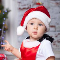 Santa Claus Şapka Saten ve Pamuklu