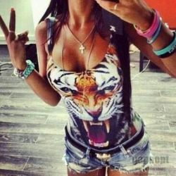 T-shirt with a tiger, new