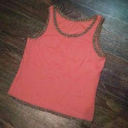 Top / short pink T-shirt