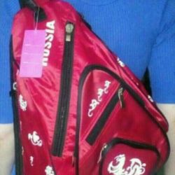 Backpack diagonal, through one shoulder, red ML