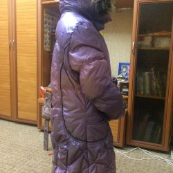 Winter down jacket for a girl of 8-10 years old for height 158