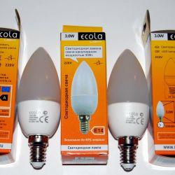 Светодиодные лампы Свеча Е14 (миньоны) 3Вт