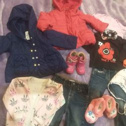 Package of clothes and shoes