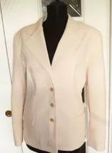 Cream jacket for bright women