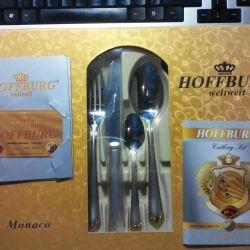 Çatal Kaşık Bıçak 24 pr Hoffburg Monaco HB-2460