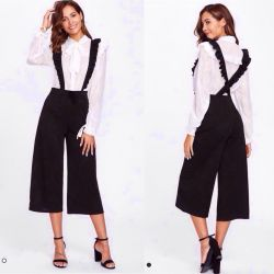 Skirt trousers with straps