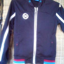 Αθλητικό μπουφάν με κουκούλα p L, χρώμα t / μπλε