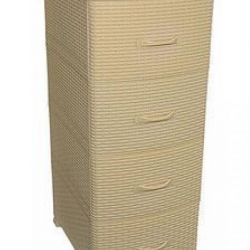 Chest 4 tiers Rattan without decor beige