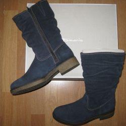 New Tamaris boots p.39 nat. leather