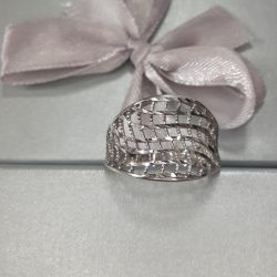 Silver ring 925 ave. Size 18