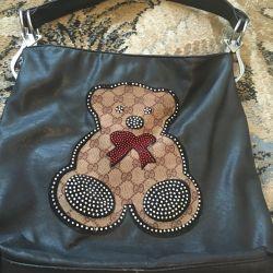 Original handbag with teddy bear