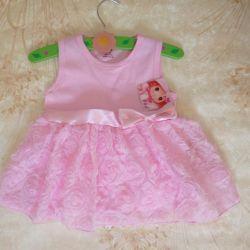 Платье праздничное розовое хлопковое Новое