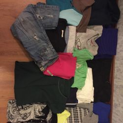 Dresses, skirts, jeans, sports clothing, etc.