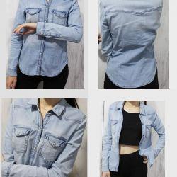 H & M τζιν πουκάμισο