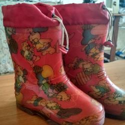 Boots for children, rubber, insulated