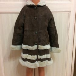 Natural sheepskin coat for girls p. 110-116