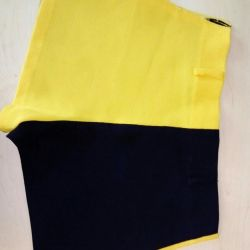 Shorts yellow and black