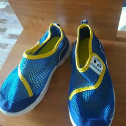 Breathable gym shoes.