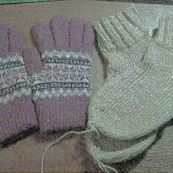 Mănuși mănuși, șosete, eșarfă.