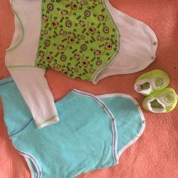 Bebek giysileri (9 adet) 56-62 beden