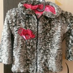 For autumn. Coat for a girl 3-6 years old