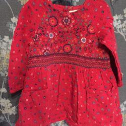 Φόρεμα και σαραφάνα Zara 3/4 χρόνια