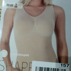 Îmbrăcăminte de top tricou de slăbire bej