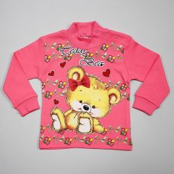 Padded sweater with a charming print, 94 and 104