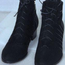 Winter 35,37,38 black half boots Litfoot