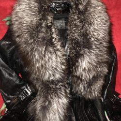 Kürklü deri ceket