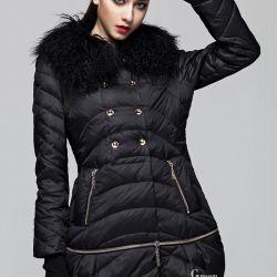 Keçi kürklü ceket ceketi. yeni
