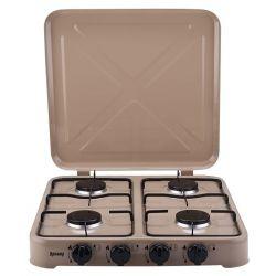 Desktop gas stove with lid 4 burners