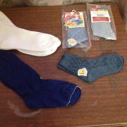 Baby socks and white knee socks