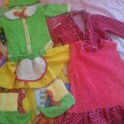 68-74 Το κοστούμι των ξωτικών για κορίτσια κοριτσιών