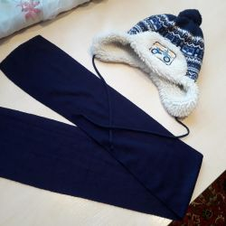 Hat with scarf 1.5-3 years