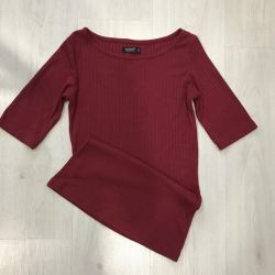Burgundy blouse